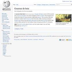 Coureur de bois - Simple English Wikipedia, the free encyclopedia
