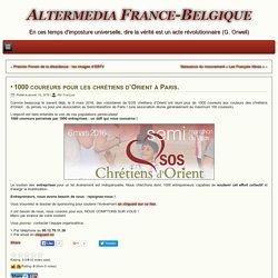 1000 coureurs pour les chrétiens d'Orient à Paris.