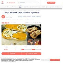 Courge butternut farcie au chèvre thym et ail : Recette de Courge butternut farcie au chèvre thym et ail