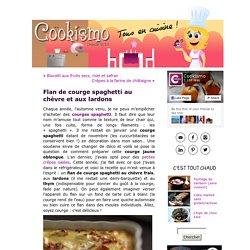 Flan de courge spaghetti au chèvre et aux lardons