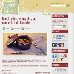 Courgettes au concentré de tomate