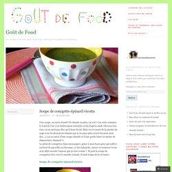Soupe de courgette-épinard-ricotta