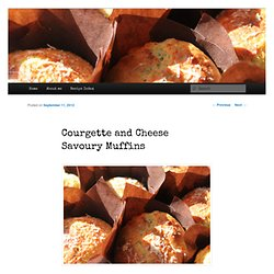 urgette and Cheese Savoury Muffins