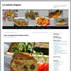 cake courgette feta tomates olives