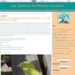 Caviar de courgettes crues au basilic et à la purée de noix de cajou - Les Jardins de Priape cuisinent