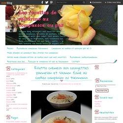 Risotto crémeux aux courgettes parmesan et saumon fumé au cookeo companion ou thermomix