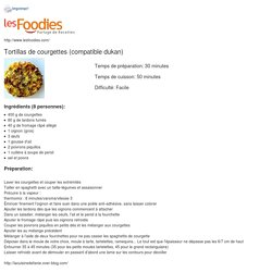 TORTILLAS DE COURGETTES