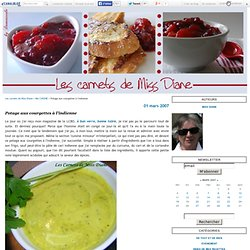 Potage aux courgettes à l'indienne - Les carnets de Miss Diane