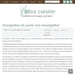 » Courgettes et purée riz-courgettes