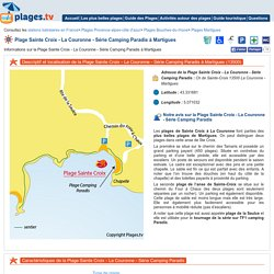 Plage Sainte Croix - La Couronne - Série Camping Paradis Martigues (13) Bouches-du-Rhone PACA - Plages.tv