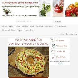 Pizza couronne à la courgette façon Cyril Lignac