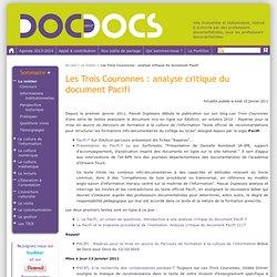 Les Trois Couronnes: analyse critique du document Pacifi