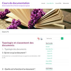 Cours n°1 – Cours de documentation