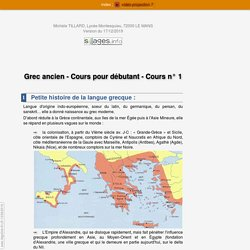 cours 1 grec