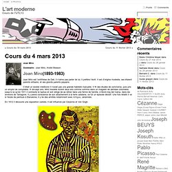 Cours du 4 mars 2013 « L'art moderne