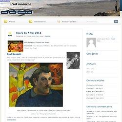 Cours du 7 mai 2012 - L'art moderne