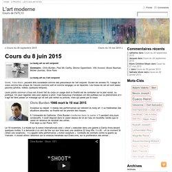 Cours du 8 juin 2015 « L'art moderne