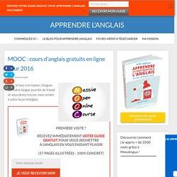 MOOC : cours d'anglais gratuits en ligne pour 2016