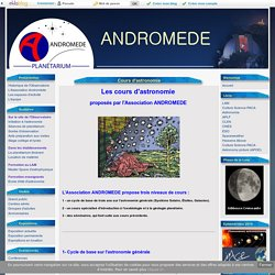 Cours d'astronomie - ANDROMEDE