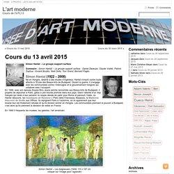 Cours du 13 avril 2015 « L'art moderne