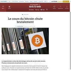 Le cours du bitcoin chute brutalement