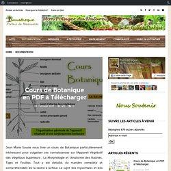 Cours de Botanique en PDF à Télécharger