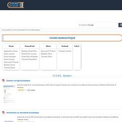1005 Cours Bureautique en PDF à télécharger