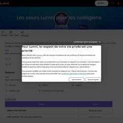 La Maison Lumni : les cours pour les collégiens - Français