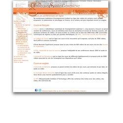 Cours et conférences en ligne