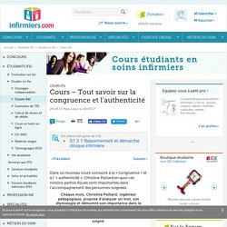 C PAILLARD-Congruence et authenticité-Cours IFSI
