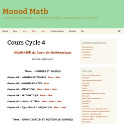 Cours Cycle 4