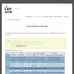 L'air ivre, danse et yoga à paris