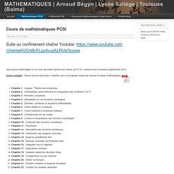Cours de maths PCSI