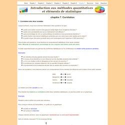 Cours de statistique - chapitre 7