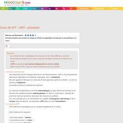 Cours de SVT - L'ATP : utilisation