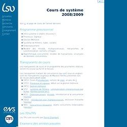 Cours de système 2008/2009