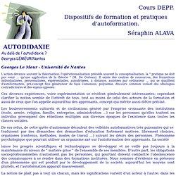 Dispositifs & Pratiques Autoformation Cours S. ALAVA