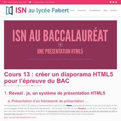 Cours 13 : créer un diaporama HTML5 pour l'épreuve du BAC – ISN au lycée Fabert