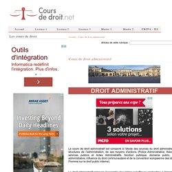 Cours de droit administratif
