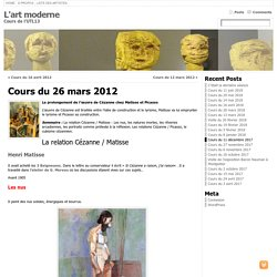 Cours sur L'art moderne Université du Temps Libre