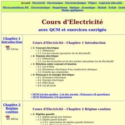 cours électricité