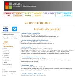 Ressources collège et lycée en français