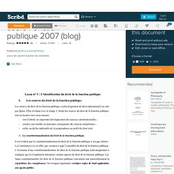 cours Fonction publique 2007 (blog)