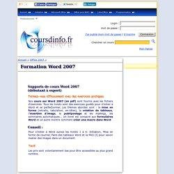 Cours sur WORD 2007 en pdf, formation WORD 2007 - coursdinfo