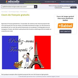 Cours de français gratuits en ligne