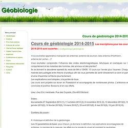 Cours de géobiologie 2012-2013