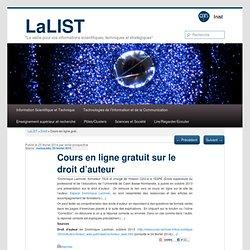 Cours en ligne gratuit sur le droit d'auteur
