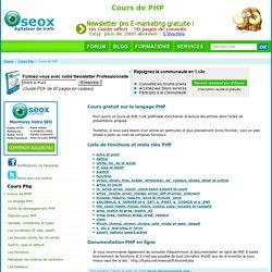 Cours PHP Gratuit Et Liste De Fonctions.