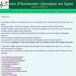 cours d'harmonie, niveau 1