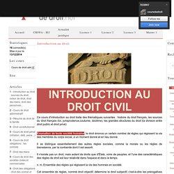 Cours d'introduction au droit français